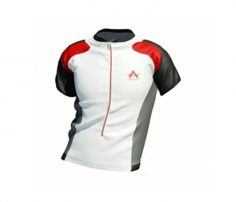 White Cycling T-shirt With Mixed Black And Red in UK and Australia