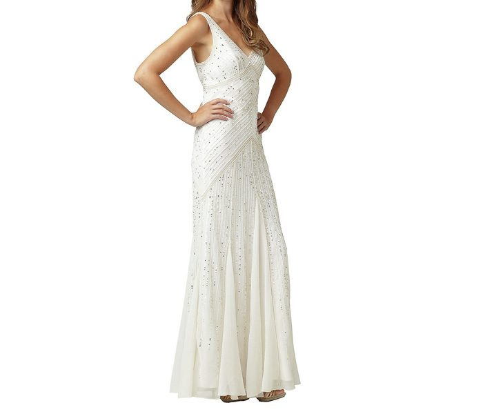 White Full Length Evening Dress in UK and Australia