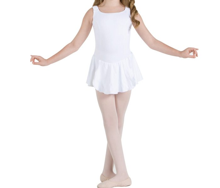 White Skirted Leotard For Juniors in UK and Australia