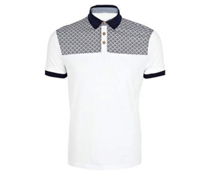 White with Black Collar Tee in UK and Australia