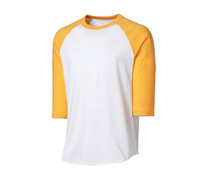 White & Yellow Softball Jersey in UK and Australia