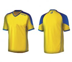 Yellow and Royal Blue Soccer Tee in UK and Australia
