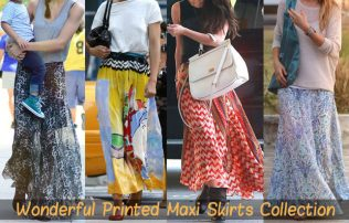The Sublimated Clothing Hubs Have Brought in Wonderful Printed Maxi Skirts