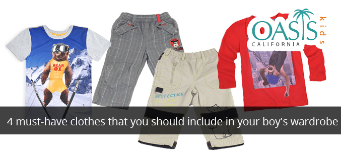 4 Must-Have Clothes That You Should Include In Your Boy's Wardrobe