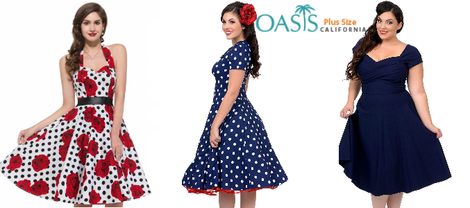 plus size swing dresses