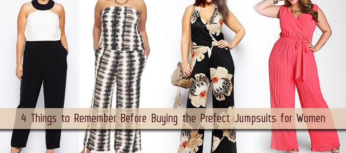 4 Things to Remember Before Buying the Prefect Jumpsuits for Women