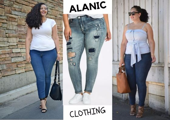 The Latest Trend of Plus Size Blue Jeans