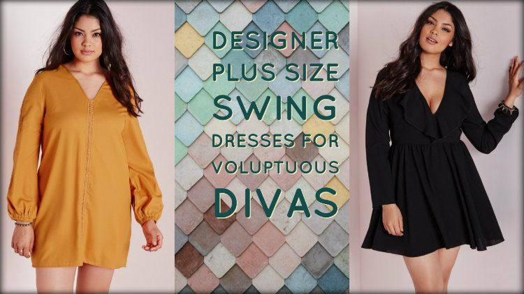 a04377577bd Designer Plus Size Swing Dresses for Voluptuous Divas