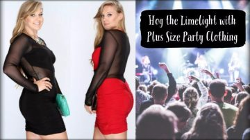 Hog the Limelight with Plus Size Party Clothing