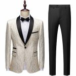 Foreign Trade White Mens Designer Suits